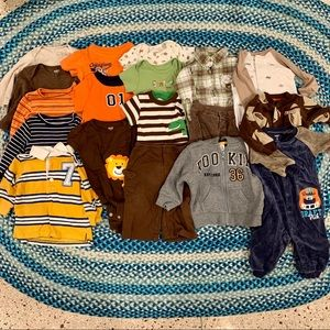 Lot Boy's Carter's Clothes 9 Mth - 18 Item Bundle